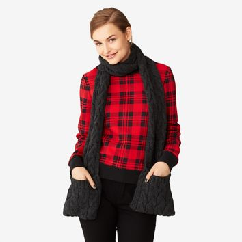 Kate Spade Saturday Cableknit Pocket Scarf
