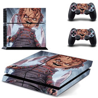 Chucky Doll decal for PS4 console & condrollers skin sticker