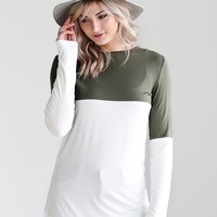 Army DLMN Long Sleeve Color Block Tee
