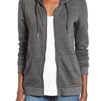 Roxy Signature Cotton Blend Hoodie | Nordstrom