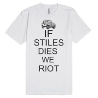 we riot-Unisex White T-Shirt