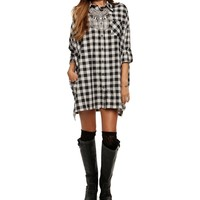 Ivory Khloe Plaid Tunic