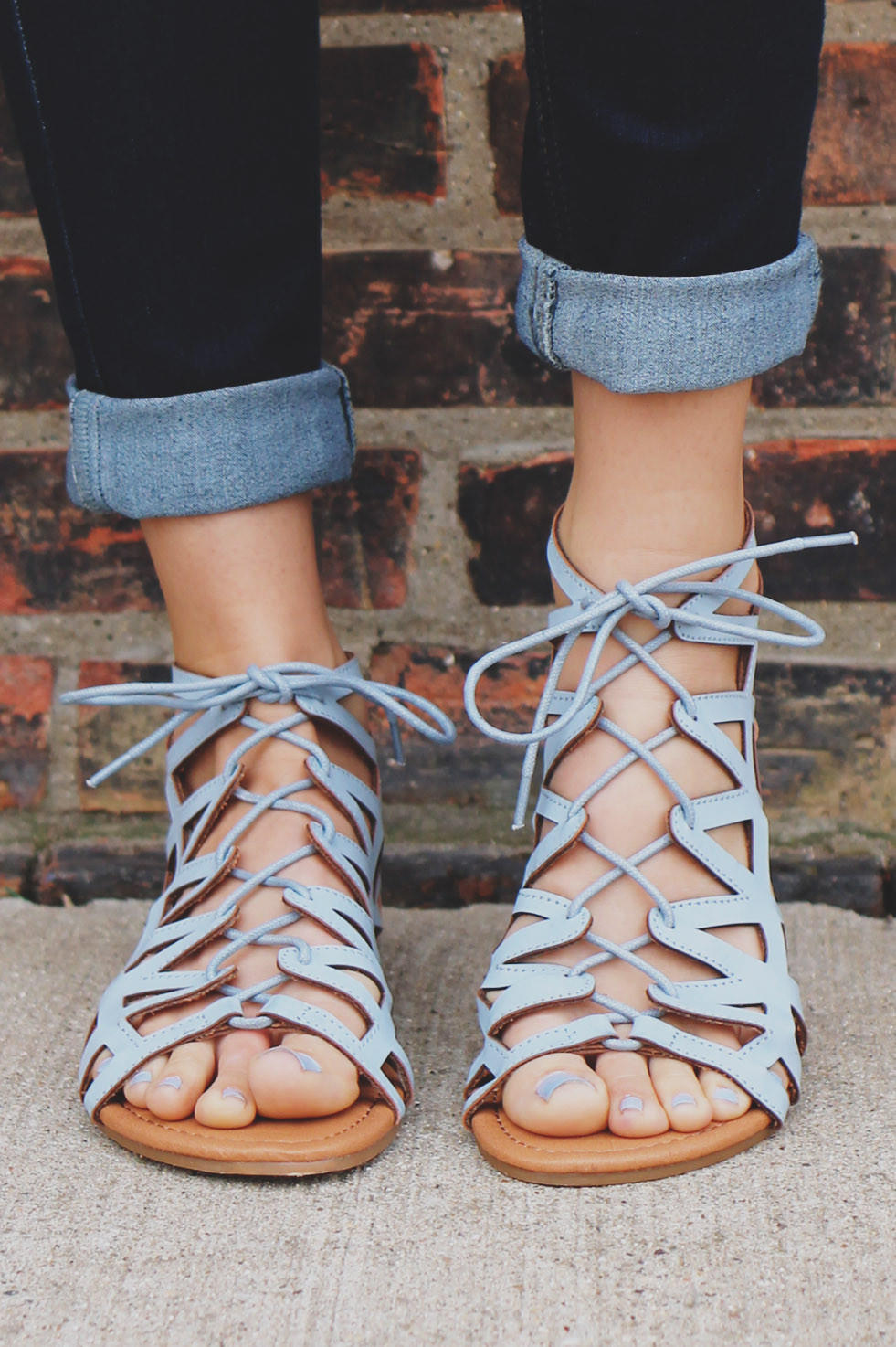 96a8e634b4c1 Femme Fatale Sandal - Baby Blue from UOI Boutique