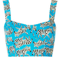 ZEBRA CUPPED BRALET TOP
