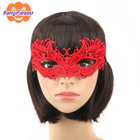 Red Lace Masks Sexy Women  Lace Masks Dance Party Mask Halloween Masquerade Lace Party Girls Party Supplies Lady Mask