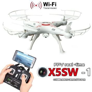 X5SW-1 6-Axis Gyro 2.4G 4CH Real-time Images Return RC FPV Quadcopter drone wifi with HD Camera One-press Return Helicopter