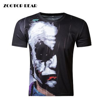 ZOOTOP BEAR New half face Joker 3d t shirt funny character joker Brand clothing design 3d t-shirt summer style tees top print