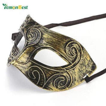 ICIKU7Q Hot Sale Vintage Retro Mask Silver/Gold Men Greco-Roman Gladiator Masquerade Masks for Carnival Halloween Costume Party Ball