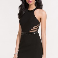 Alyce 4467 Fitted Dress with Illusion Side Panels