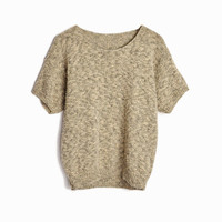 Vintage Black & Tan Knit Top - women's medium/large