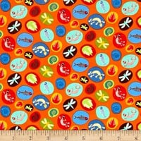 Moda Jurassic Jamboree Fossils Orange