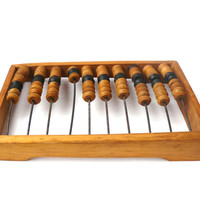 Vintage wooden abacus, Large abacus, vintage bills, vintage calculator, kids abacus, old tree, decor, educational toys, decor house & office