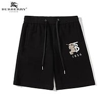Burberry New fashion embroidery war horse letter shorts Black