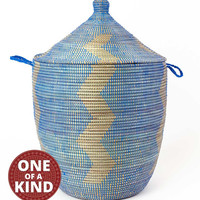 Extra Large Handwoven Senegal Hamper with Lid