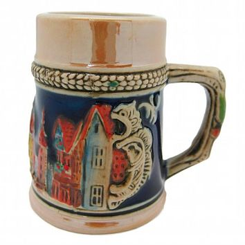 Engraved Beer Stein: German Village Shot Glass