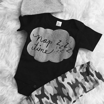 Nap Time Design. Infant/Baby/Toddler/Adult Apparel. Onesuit or Tees Available