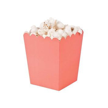Coral popcorn boxes
