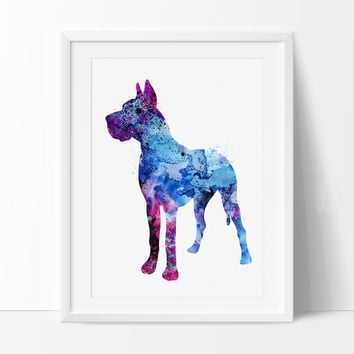 Doberman Art, Doberman Watercolor Print, Children's Wall Art Poster, Dog Watercolor Painting, Animal Art Poster (70)