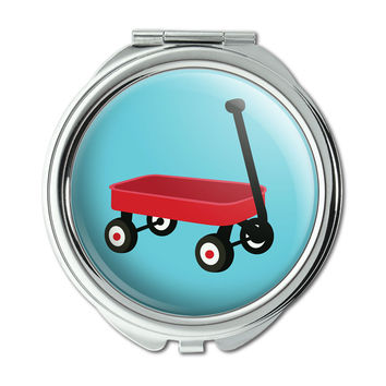 Little Red Wagon Compact Purse Mirror