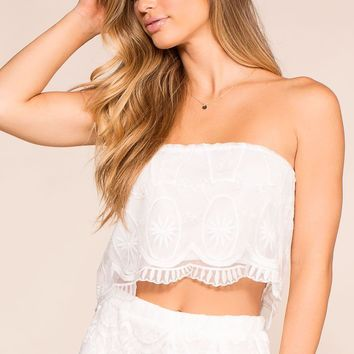 Irreplaceable White Lace Crop Top