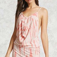 Draped Tie-Dye Cami Dress