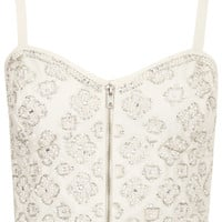Pearl Embellished Bralet - Tops - Clothing - Topshop USA
