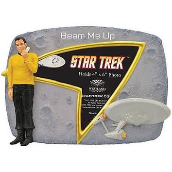 Official NEW Star Trek Captain Capt. Kirk Beam Me Up Picture Frame in great Box