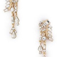 Gatsby Collection Crystal Droplet Earrings