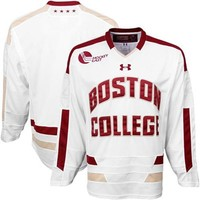 Under Armour Boston College Eagles Tackle Twill Hockey Jersey - White