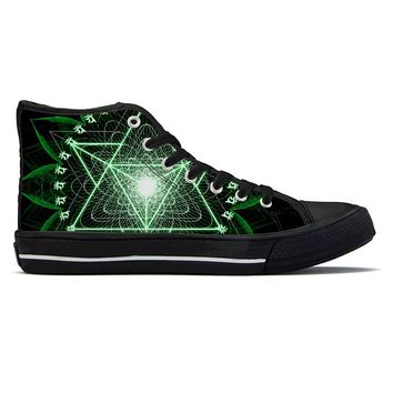 Anahata by Sam and Cate Farrand - High Top Canvas Shoes