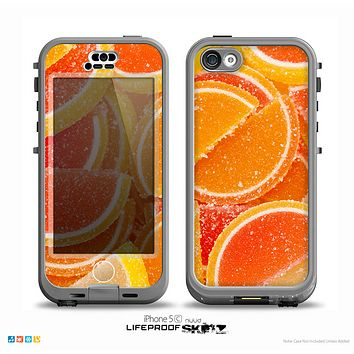 The Orange Candy Slices Skin for the iPhone 5c nüüd LifeProof Case