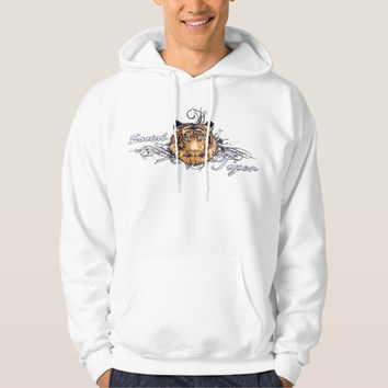 T-Shirt Hoddie Social Tiger Illustration White