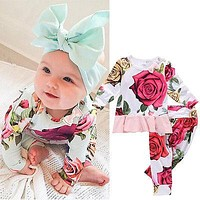 2pcs  Set Newborn Toddler Infant Baby Girls Clothes T-shirt Tops+Pants Outfits Clothes Set Baby Girls Clothing