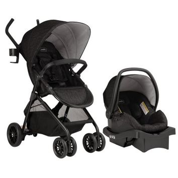 Evenflo Sibby Travel System w/ LiteMax Infant Car Seat, Charcoal - Walmart.com