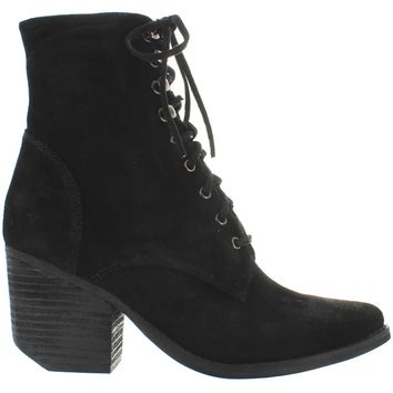 Jeffrey Campbell Elmcrom - Black Oiled Suede Lace Bootie