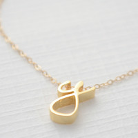 Initial necklace | Cursive lowercase letter necklace