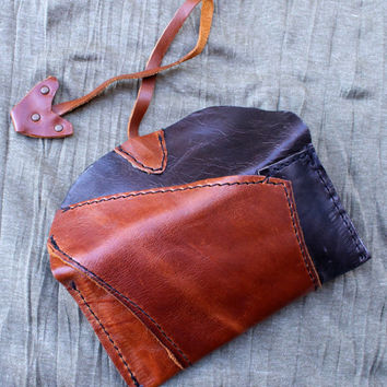 Tobacco Rolling Cigarette Bag- Tobacco Pouch-Handmade Patchwork Tobacco Pouch- Cigarette Tobacco Pouch, Soft Leather crafted tobacco bag