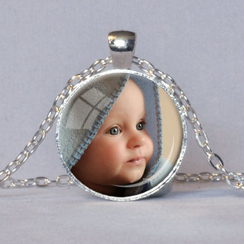 CUSTOM PHOTO PENDANT Personalized Necklace Photo of Your Baby Child Mom Dad Grandparent Loved One Gift for Family Member Best Friend Gift