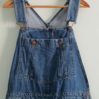 "Oshkosh Overalls Denim Jean Bib Suspenders Pants 37"" 32 30"