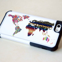 Phone Case, Phone Cover, Geometric World Map, iPhone Case, Samsung Galaxy Case