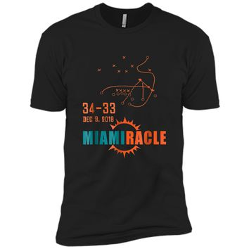Miami Miracle Funny Miami Football Dolphins  For Fans Next Level Premium Short Sleeve Tee