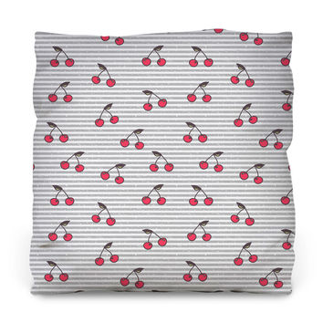 Cute Cherries Throw Pillow