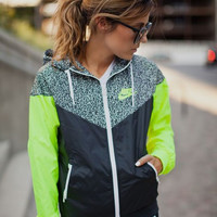 """NIKE""Fashion Hooded Zipper Cardigan Jacket Coat"