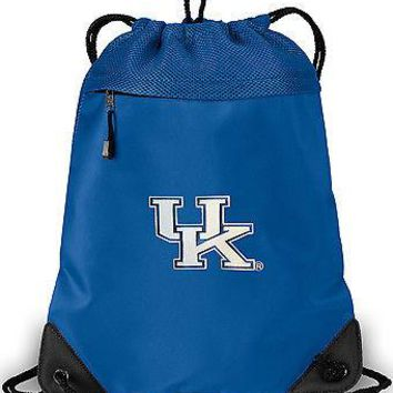 University of Kentucky Drawstring Backpack Bag UK MESH MICROFIBER Bags