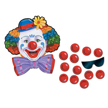 "Beistle 66669 Circus Clown Game ""Pin The Nose"" 17-1/2"" x 16-1/2"