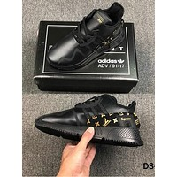 Adiasd clover EQT Cushion ADV LV Supreme joint limited edition casual running shoes B-CSXY Black&Gold