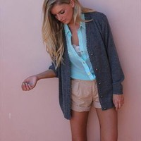 Schoolgirl Grey Olive Cardi from Never Fully Dressed