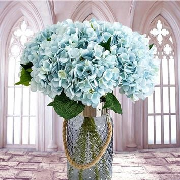 Artificial flowers cheap Silk hydrangea Bride bouquet