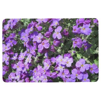 Purple Flowers Floor Mat