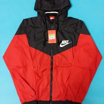 fashion nike hooded zipper cardigan sweatshirt jacket coat windbreaker sportswear-4